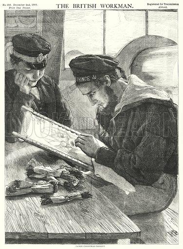 Jack's Christmas Present. Illustration for The British Workman, 2 December 1867.