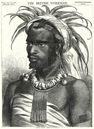 African Prince. Illustration for The British Workman, 1 June 1868.