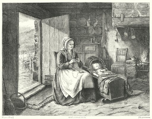 Susy's Cottage Home. Illustration for The British Workman, 1 January 1869.