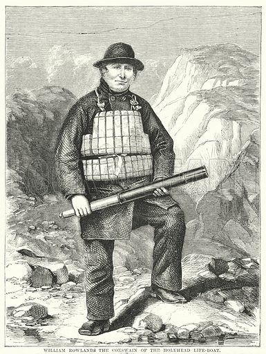 William Rowlands the Coxswain of the Holyhead Life-Boat. Illustration for The British Workman, 1 April 1869.
