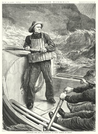 Coxswain Cox and his Comrades on their Mission of Mercy. Illustration for The British Workman, 1 November 1870.