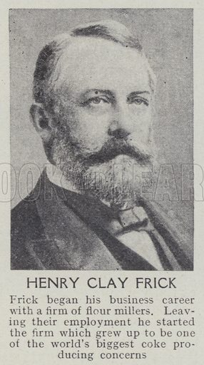 Henry Clay Frick. Illustration for Harmsworth's Business Encyclopedia and Commercial Educator (c 1926).