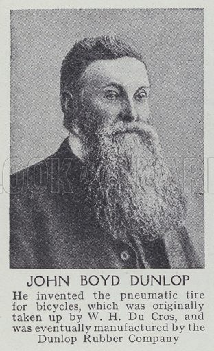 John Boyd Dunlop. Illustration for Harmsworth's Business Encyclopedia and Commercial Educator (c 1926).