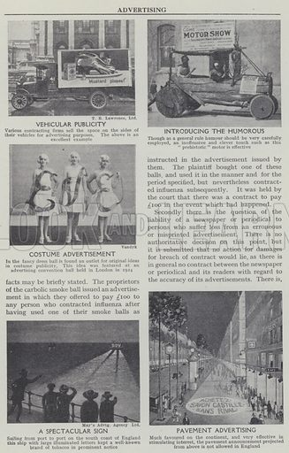 Advertising. Illustration for Harmsworth's Business Encyclopedia and Commercial Educator (c 1926).