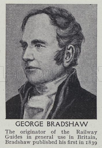 George Bradshaw. Illustration for Harmsworth's Business Encyclopedia and Commercial Educator (c 1926).