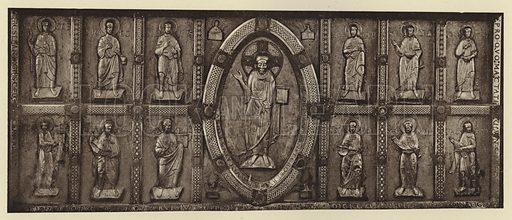 Comburg, Altartafel. Illustration for Deutsche Goldschmiedeplastik by Edwin Redslob (Delphin-Verlag, 1922).