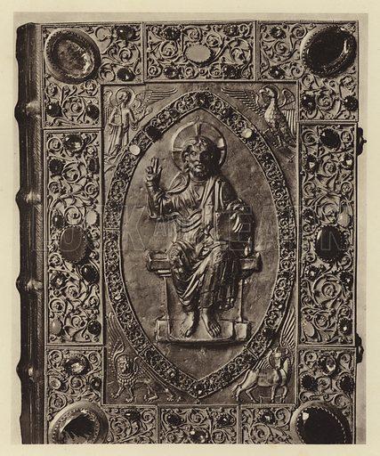 Braunschweig, Museum, Evangeliardeckel. Illustration for Deutsche Goldschmiedeplastik by Edwin Redslob (Delphin-Verlag, 1922).