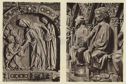 Marburg, Elisabethschrein. Illustration for Deutsche Goldschmiedeplastik by Edwin Redslob (Delphin-Verlag, 1922).