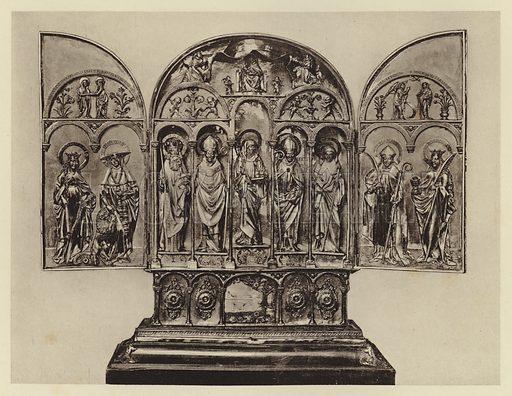Munchen, Reiche Kapelle, Silberaltar. Illustration for Deutsche Goldschmiedeplastik by Edwin Redslob (Delphin-Verlag, 1922).
