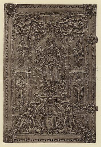 Herdringen, Pontificale von Anton Eisenhoit. Illustration for Deutsche Goldschmiedeplastik by Edwin Redslob (Delphin-Verlag, 1922).