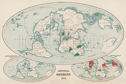 Imperial Germany, 1914. Illustration for Harmsworth's Atlas of the World and Pictorial Gazetteer edited by J A Hamerton (Amalgamated Press, c 1921).