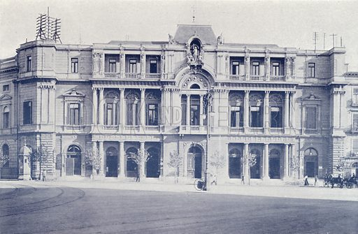 Bolsa De Comercio. Illustration for Buenos Aires Moderno (Libreria Inglesa, Monqaut e Casquez Millan, c 1903).
