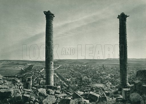 Urfa. Illustration for Fotografla Turkiye [ie Turkey in Pictures] published by The General Direction of The Press, Ankara, c 1930.  Photographs provided by Orthmar Pferschy (1898-1984).  It is not clear whether or not all the photos are by Pferschy, or whether or not the copyright was acquired by the State.  Gravure printed.