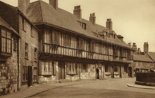 St William's College. Illustration for Royal and Ancient York (Walter Scott, Bradford, c 1910).  Gravure printed.