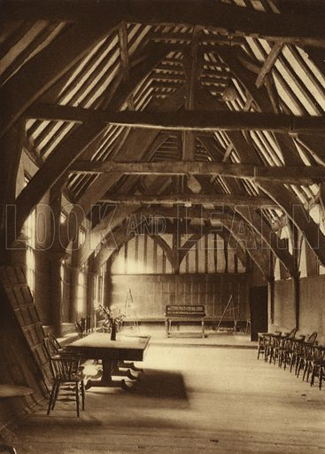 The Merchant Adventurers' Hall. Illustration for Royal and Ancient York (Walter Scott, Bradford, c 1910).  Gravure printed.