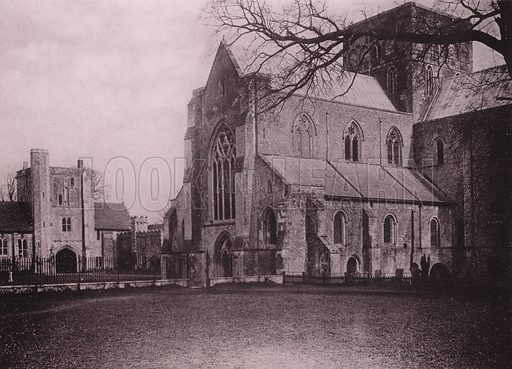 Church of St Cross, Winchester. Illustration for Grand Collotype Album of Winchester and District (Payne and Watson, c 1890).  Photos supplied by Valentine & Sons.