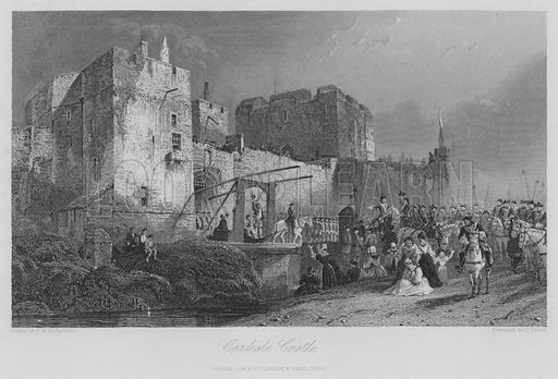 Carlisle Castle. Illustration for unidentified edition of the Waverely Novels of Sir Walter Scott.