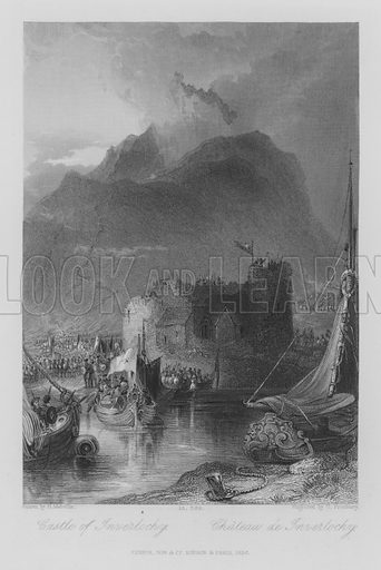 Castle of Inverlochy. Illustration for unidentified edition of the Waverely Novels of Sir Walter Scott.