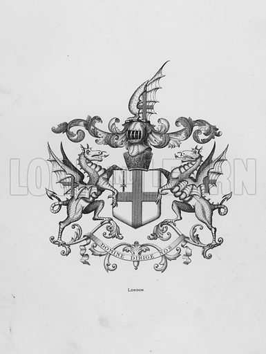London. Illustration for The Book of Public Arms, A Cyclopaedia, by Arthur Charles Fox-Davies and M E B Crookes (Jack, 1894).