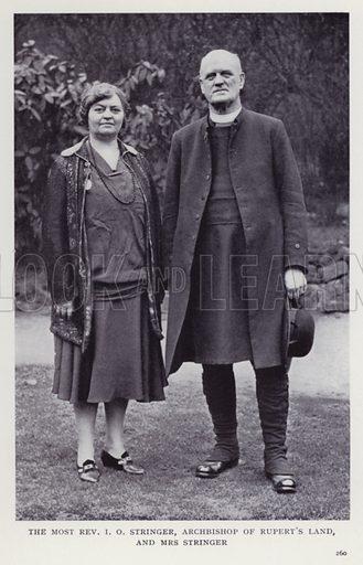 The Most Rev I O Stringer, Archbishop of Rupert's Land, and Mrs Stringer. Illustration for Recent Heroes of Modern Adventure by T C Bridges and H Hessell Tiltman (Harrap, 1932).