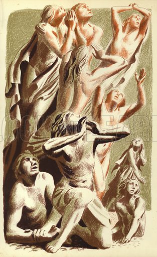 The Last Judgment. Illustration for The Revelation of Saint John The Divine with lithographs by Hans Feibusch (Collins, 1946).