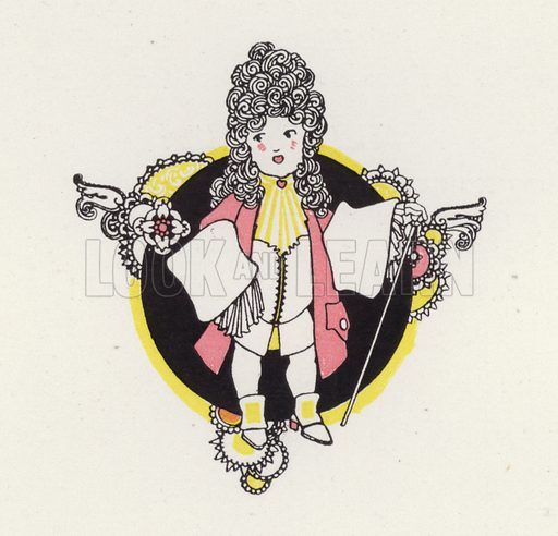 "Illustration for ""Rogues In Porcelain"", A Miscellany of Eighteenth Century Poems, compiled and decorated by John Austen (Chapman and Hall, 1924)."