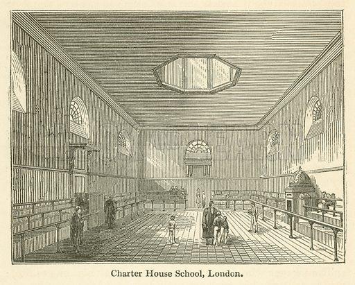 Charter House School, London. Illustration for School-Days of Eminent Men by John Timbs (new edn, Lockwood, c 1899).