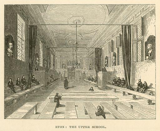 Eton, the Upper School. Illustration for School-Days of Eminent Men by John Timbs (new edn, Lockwood, c 1899).