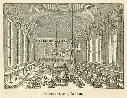 St Paul's School, London. Illustration for School-Days of Eminent Men by John Timbs (new edn, Lockwood, c 1899).