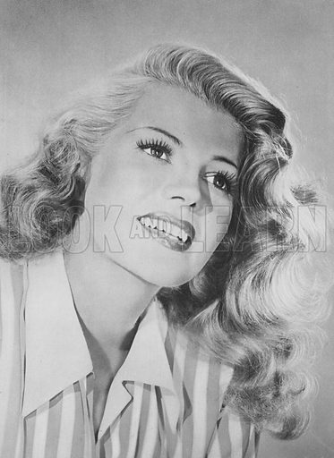 Rita Hayworth. Illustration for Winchester's Screen Encyclopedia edited by Maud M Miller (Winchester Publications, 1948).