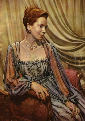 Deborah Kerr. Illustration for Winchester's Screen Encyclopedia edited by Maud M Miller (Winchester Publications, 1948).