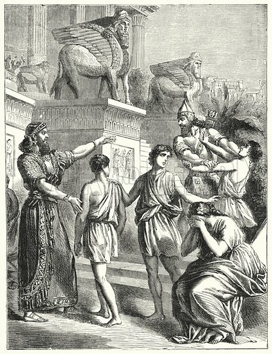 The Jews in Babylon. Illustration for Scripture Picture-Book (SPCK, c 1890).