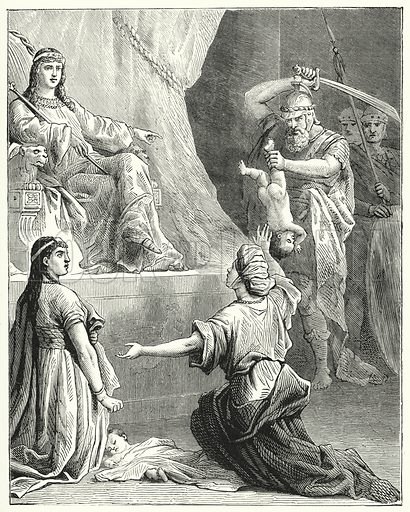 The Judgement of Solomon. Illustration for Scripture Picture-Book (SPCK, c 1890).