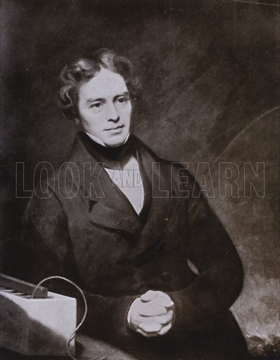 Michael Faraday. Illustration for National Worthies being a selection from the National Portrait Gallery (Archibald Constable, 1899).