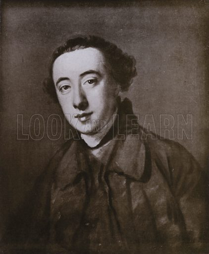 Horace Walpole. Illustration for National Worthies being a selection from the National Portrait Gallery (Archibald Constable, 1899).