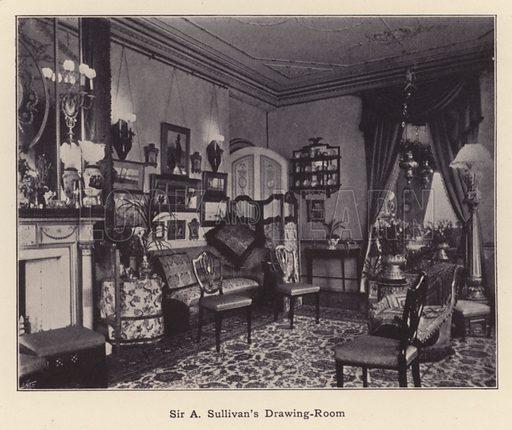 Sir A Sullivan's Drawing-Room. Illustration for Souvenir of Sir Arthur Sullivan by Walter J Wells (George Newnes, 1901).