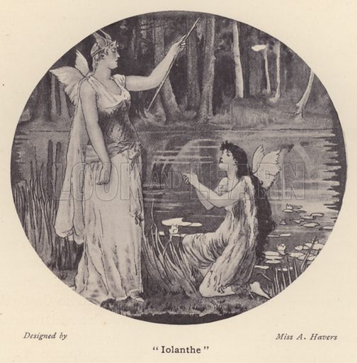 """Iolanthe."" Illustration for Souvenir of Sir Arthur Sullivan by Walter J Wells (George Newnes, 1901)."