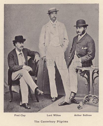 The Canterbury Pilgrims. Illustration for Souvenir of Sir Arthur Sullivan by Walter J Wells (George Newnes, 1901).