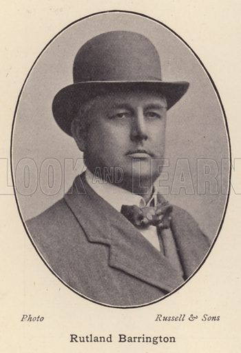 Rutland Barrington. Illustration for Souvenir of Sir Arthur Sullivan by Walter J Wells (George Newnes, 1901).