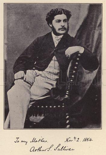Arthur S Sullivan. Illustration for Souvenir of Sir Arthur Sullivan by Walter J Wells (George Newnes, 1901).