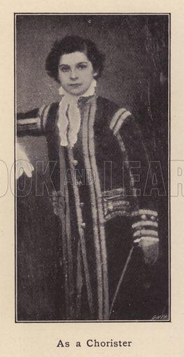 As a Chorister. Illustration for Souvenir of Sir Arthur Sullivan by Walter J Wells (George Newnes, 1901).