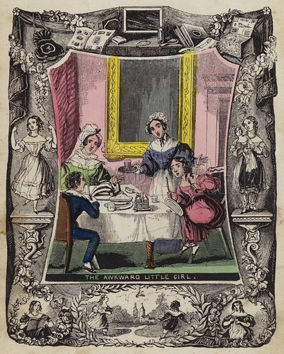The Awkward Little Girl. Illustration for Sketches of Little Girls by Solomon Lovechild (3rd edn, Dean and Munday, c 1840).