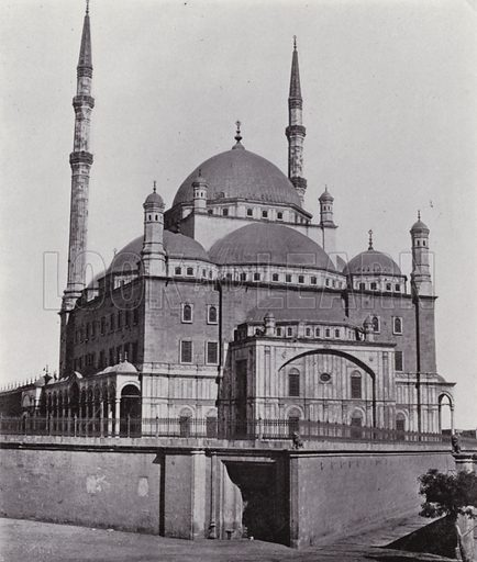 Mosque Mohamed Ali. Illustration for Souvenir of Egypt (George Ch Dovas, 1898).