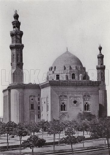 Mosque Sultan Hasan. Illustration for Souvenir of Egypt (George Ch Dovas, 1898).