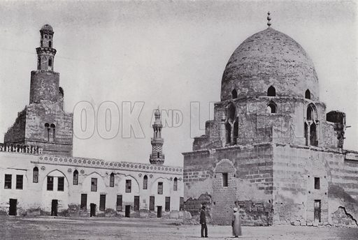 Mosque Ibn Tulun. Illustration for Souvenir of Egypt (George Ch Dovas, 1898).