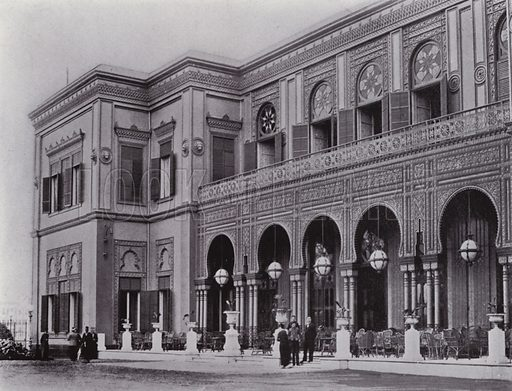 Gezireh Palace Hotel, Cairo. Illustration for Souvenir of Egypt (George Ch Dovas, 1898).