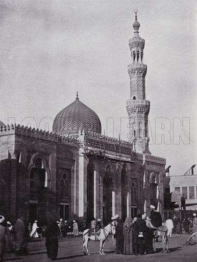 Mosque-Es-Seiydeh Zenab, Our Lady Zenab. Illustration for Souvenir of Egypt (George Ch Dovas, 1898).
