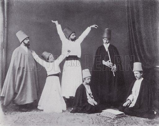 Dancing Dervishes. Illustration for Souvenir of Egypt (George Ch Dovas, 1898).