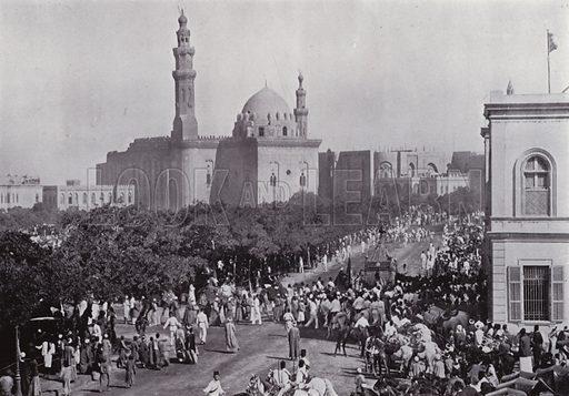 Parade of Mahmal, The Sacred Carpet. Illustration for Souvenir of Egypt (George Ch Dovas, 1898).