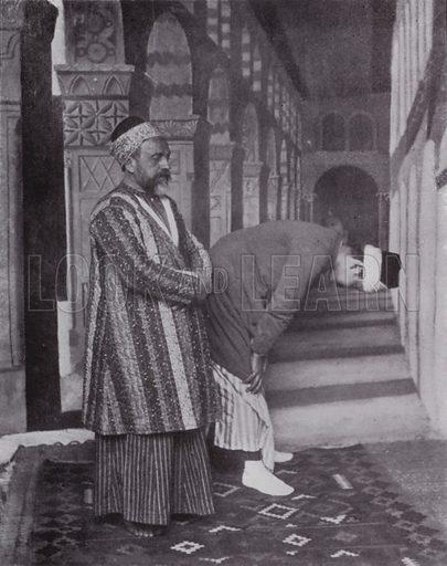 Praying Mohamedans. Illustration for Souvenir of Egypt (George Ch Dovas, 1898).